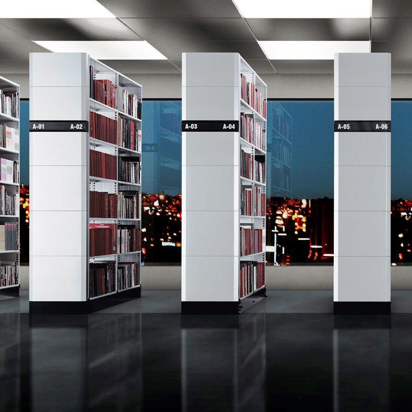 estantera profesional estndar para archivo modular para biblioteca sysco static