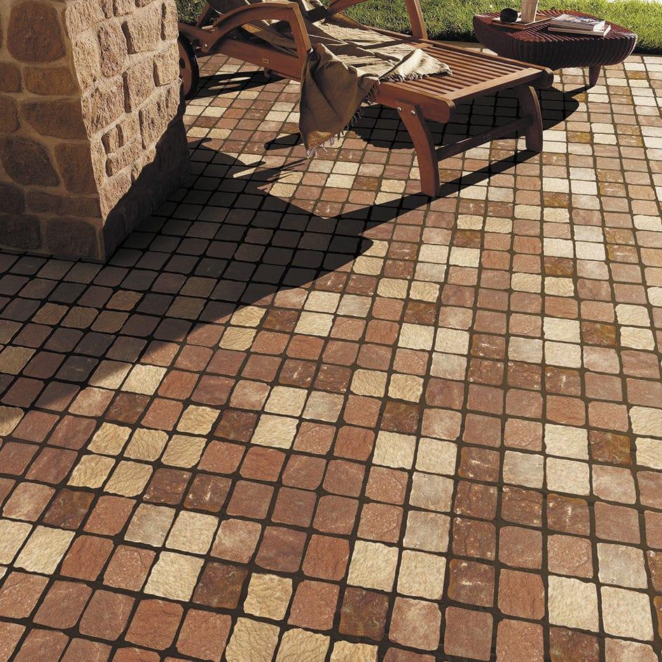 mosaico de exterior para suelo de piedra natural valencia