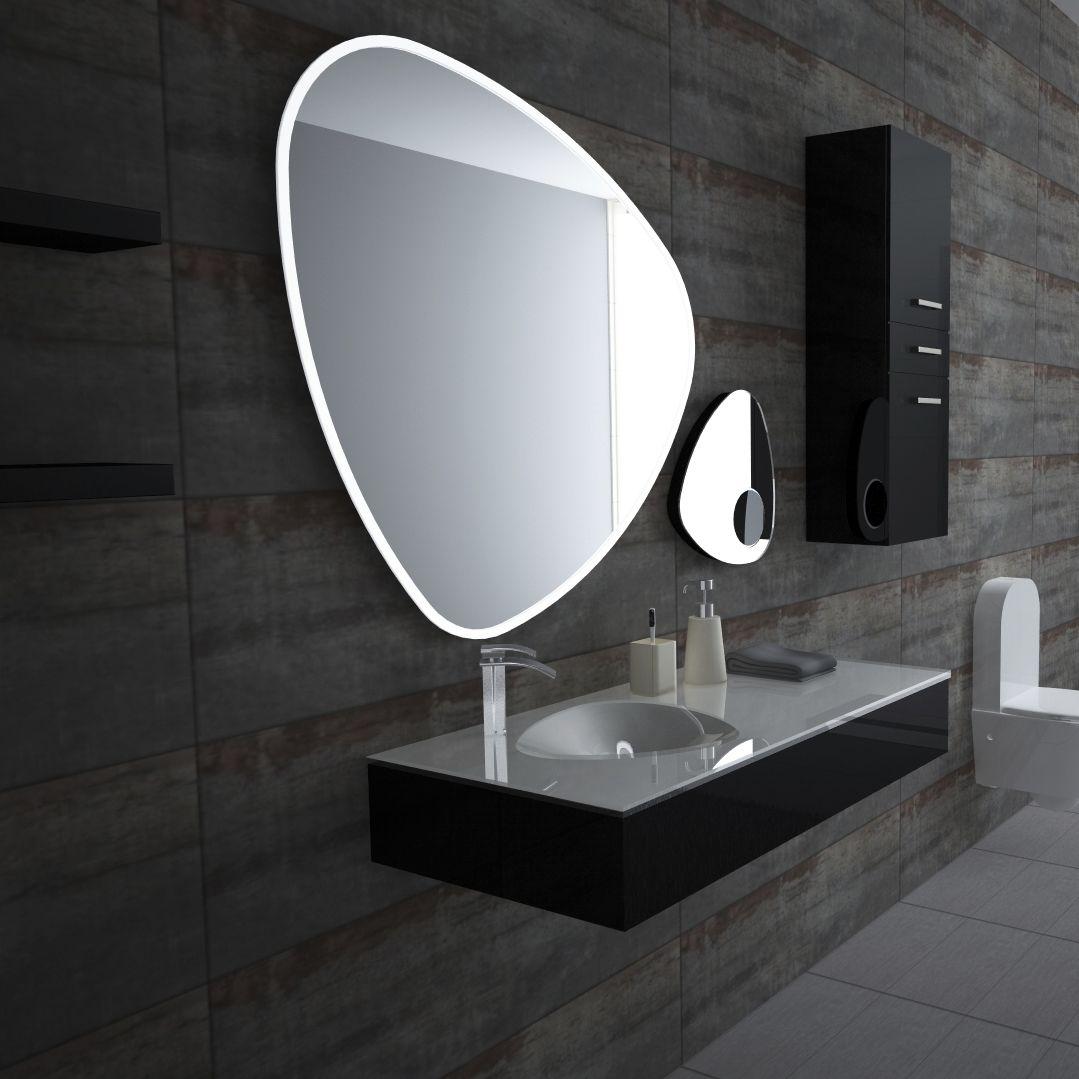 Espejo para baño de pared / con luz LED / de aumento / de diseño ...
