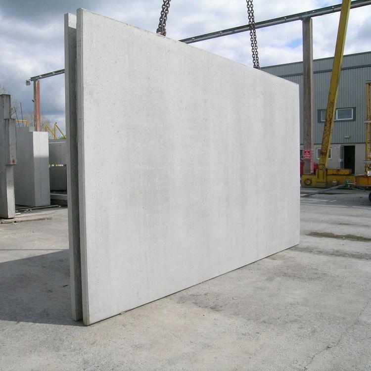 Muro doble prefabricado de hormigón armado - concast