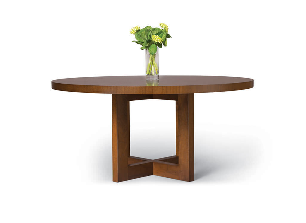 Mesa de comedor moderna / de nogal / redonda / extensible - POINTE ...