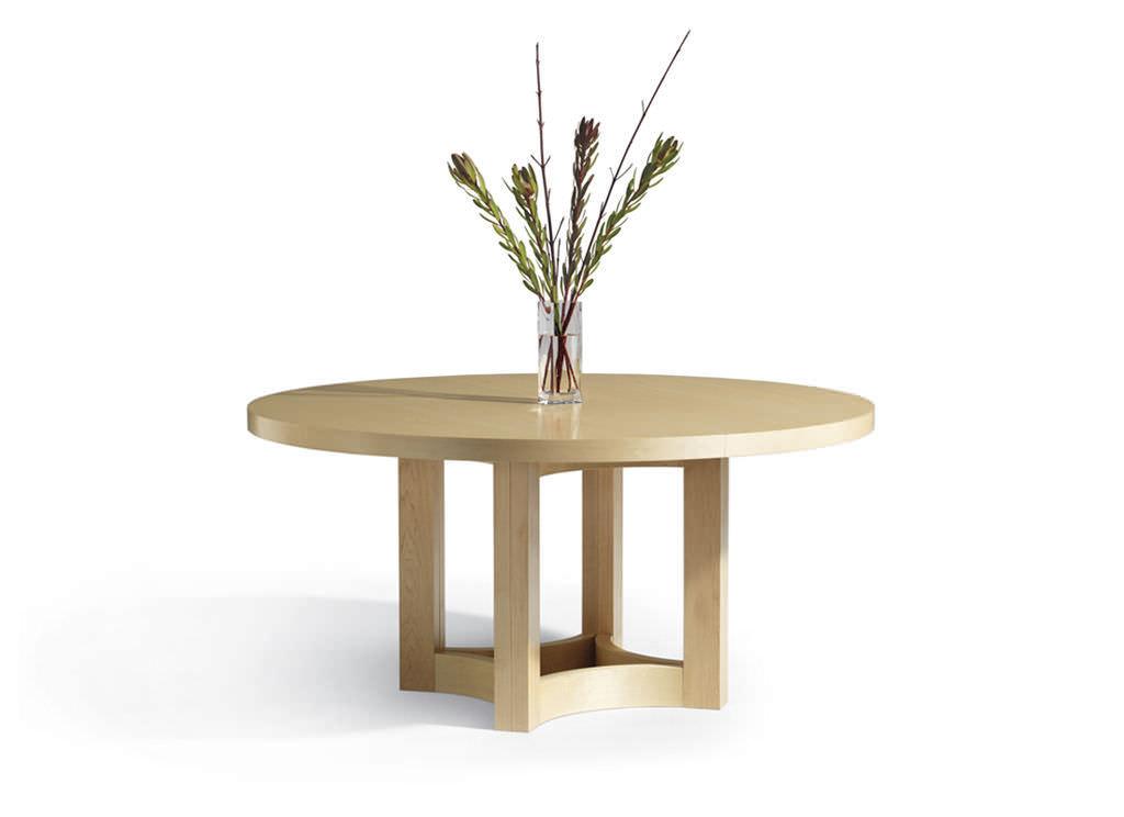 Mesa de comedor moderna / de nogal / redonda / extensible - NEXUS ...