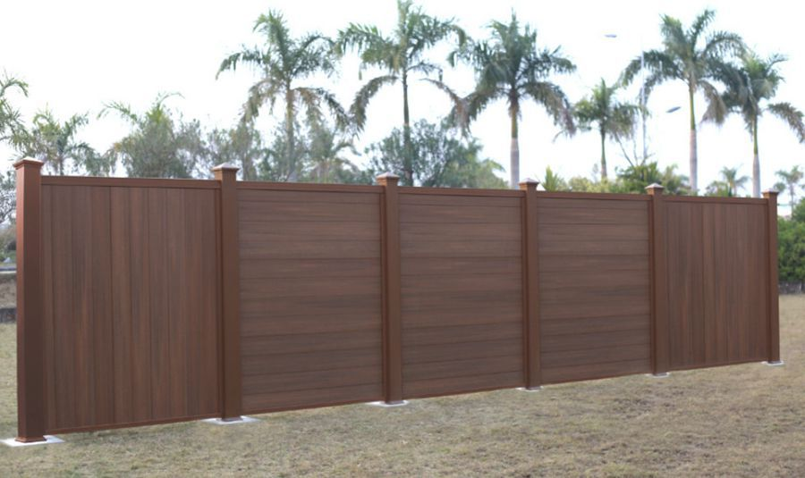 valla de jardn con paneles de madera compuesta ultrashield