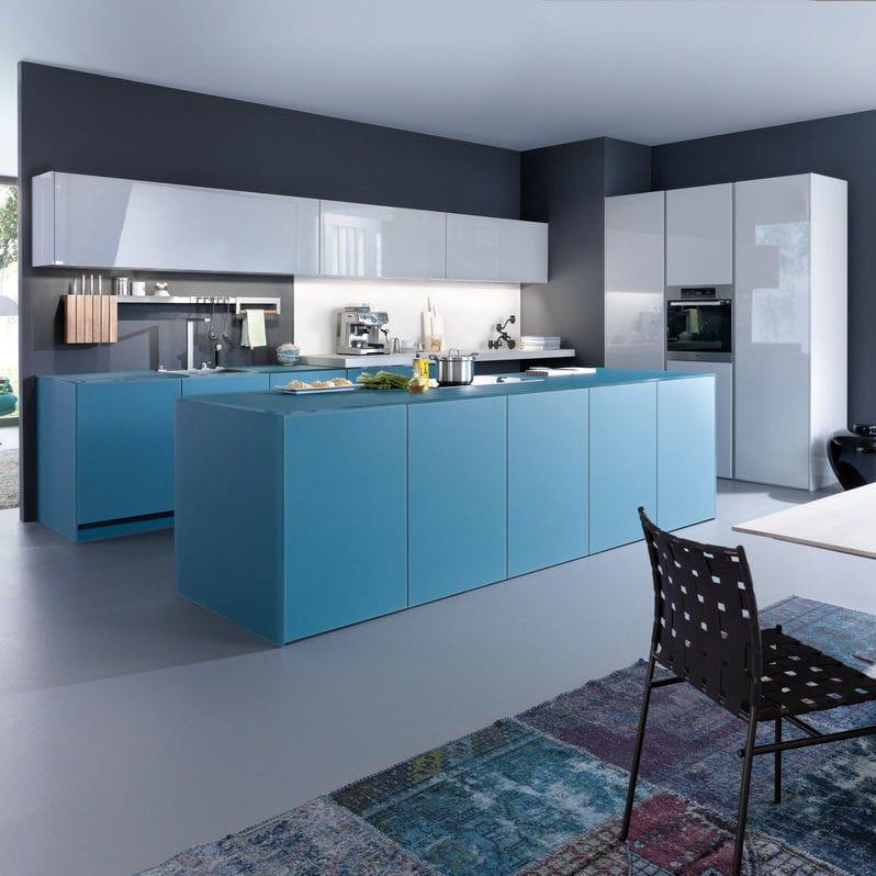 Cocina moderna / de vidrio / de madera / con isla - LARGO-FG | IOS-M ...