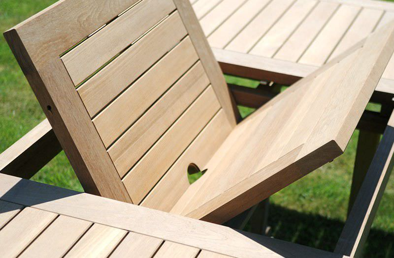 Beautiful Table De Jardin Bois Extensible Pictures - House Design ...