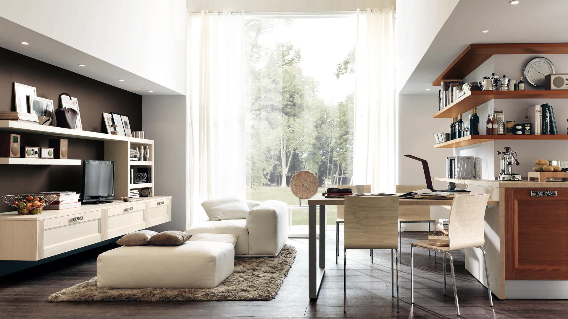 Mueble TV moderno / de madera - GEORGIA - CUCINE LUBE - Vídeos