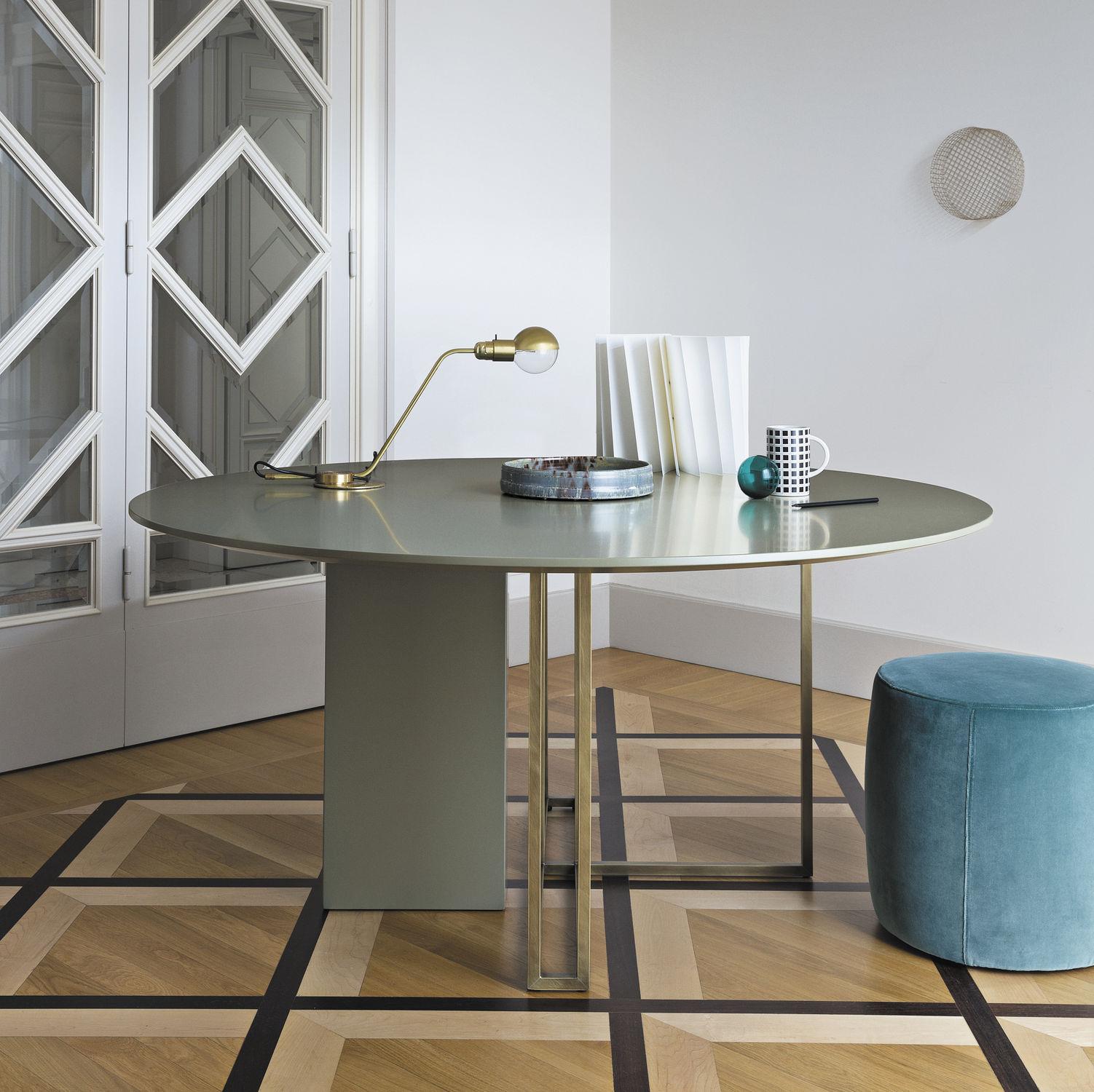Mesa de comedor moderna / de latón / redonda / cuadrada - PLINTO XW ...