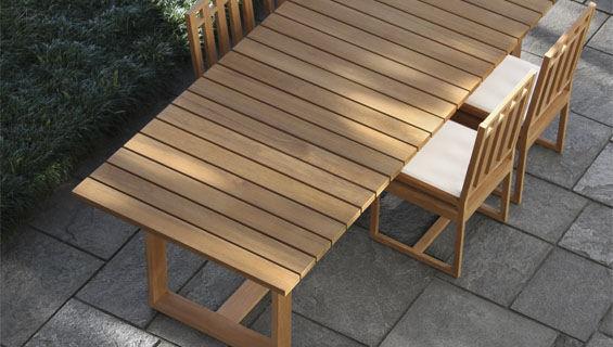 conjunto de mesa y silla moderno de madera para jardn para uso residencial
