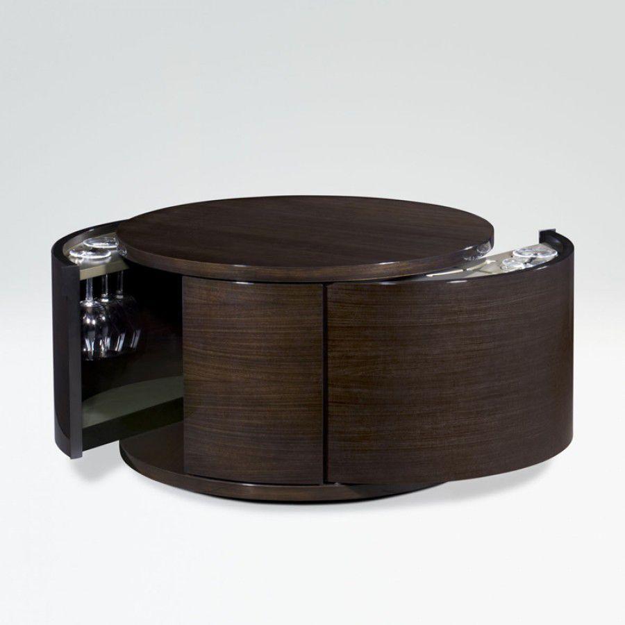 mueble bar moderno de madera circle