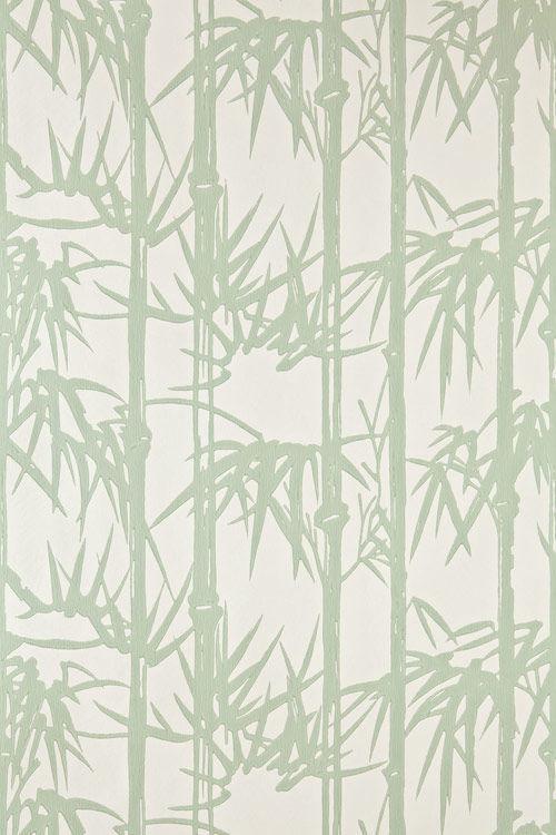 papeles pintados modernos con motivos florales bamboo farrow u ball