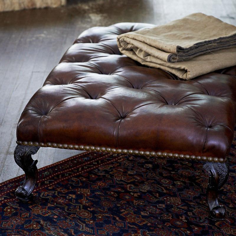 Magnífico Cuero Grande Tufted Muebles Otomana Inspiración - Muebles ...