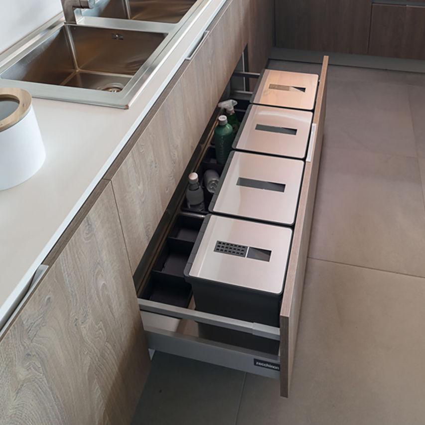 Cubo de basura para cocina / bajo encimera / de plástico / moderno ...
