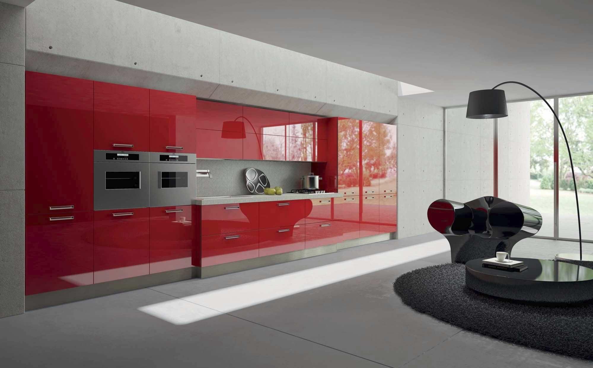 Cocina moderna / de vidrio / de melamina / brillante - LIGHT 2 by ...