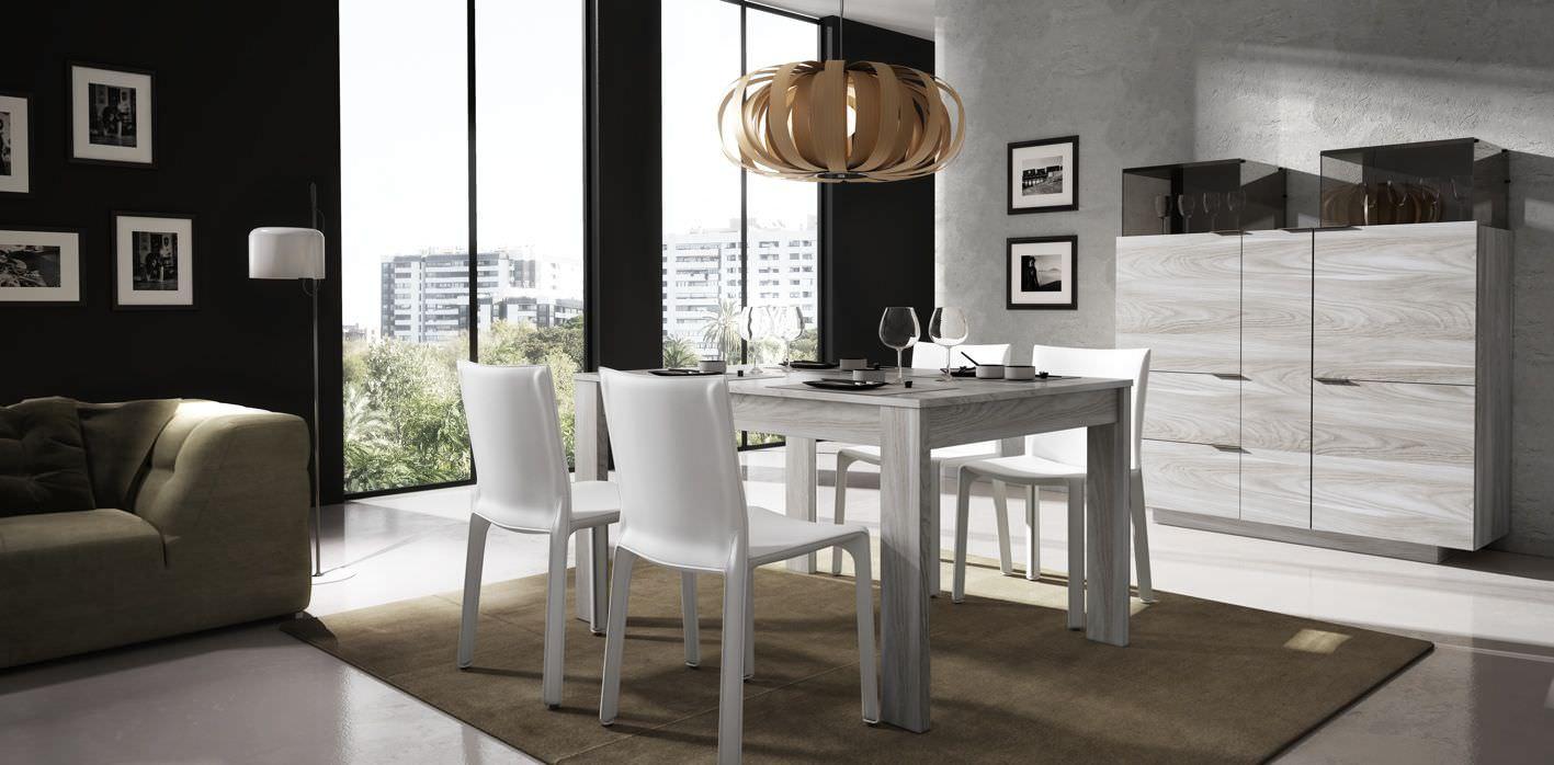 mesa de comedor moderna de madera rectangular iline