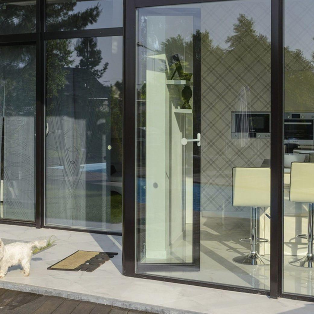 Puerta Ventana Abatible De Aluminio Con Vidrio Doble Con  ~ Cambiar Cristal Ventana Aluminio