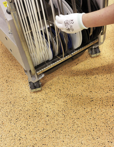 Pavimento de pvc / para uso profesional / en losas / texturado ...