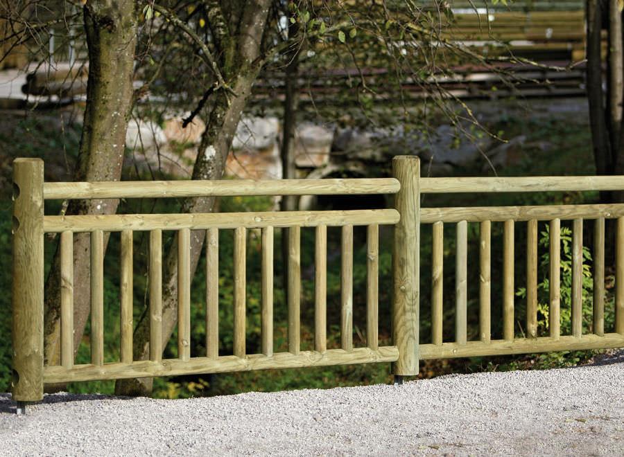 valla de jardn con barrotes de madera braun wuerfele - Valla De Jardin