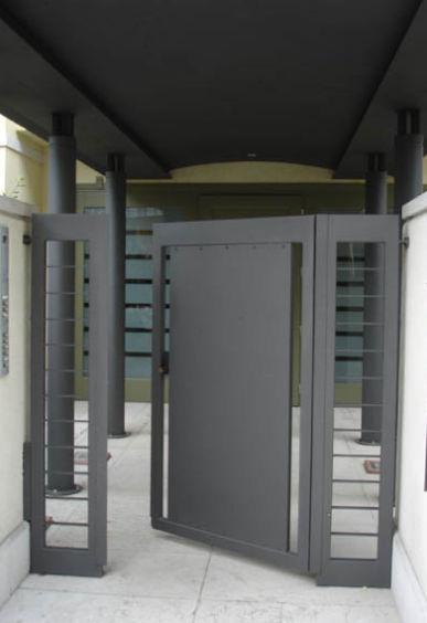 puerta para jardn de hierro forjado la maestria