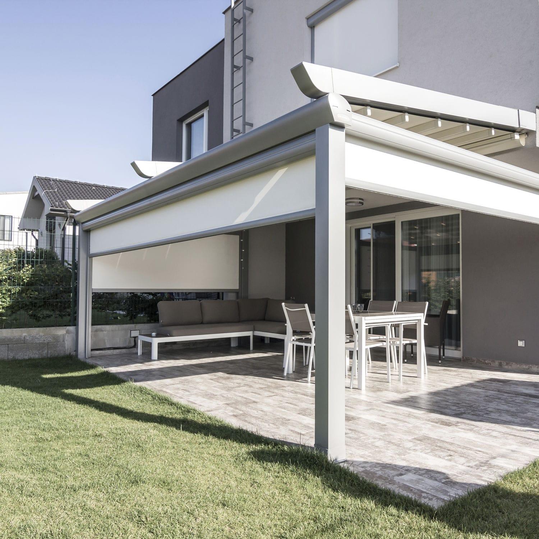 toldo para terraza para uso residencial pergola alu avantgarde izipscreen vertical blind - Pergola Terraza