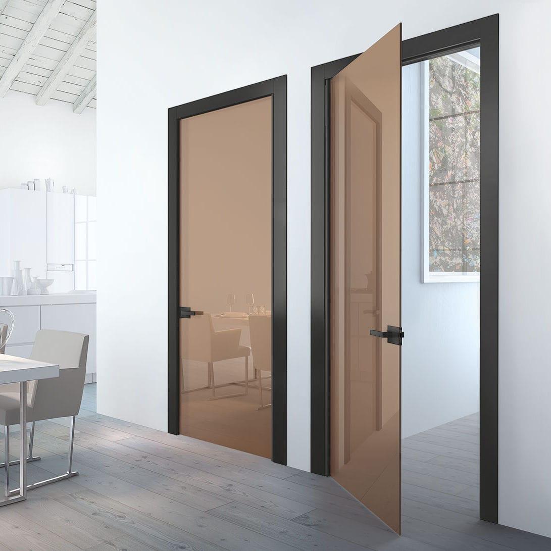 Puerta de interior / abatible / de madera / de vidrio - XILO - Henry ...