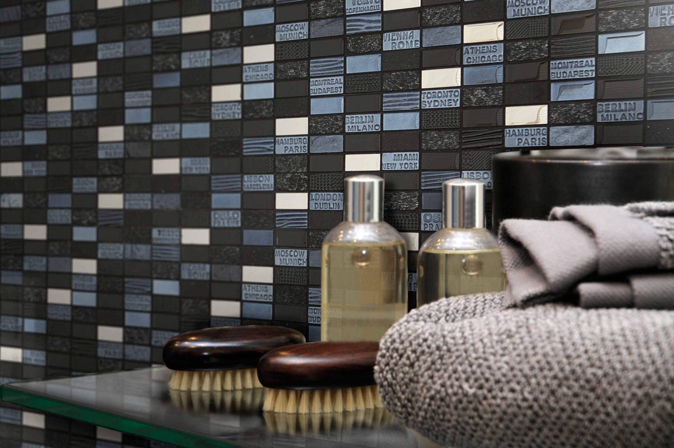 Mosaico de baño / para cocina / de pared / de mármol - CITY - Mosavit