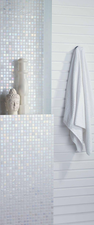 mosaico para bao de pared de vidrio blanco design sundance mosavit
