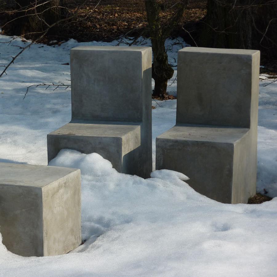 silla moderna de cemento para jardn basic lovecement