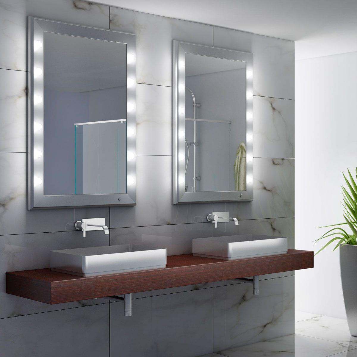 Espejo Para Bano De Pared Con Luz Para Dormitorio Suspendido