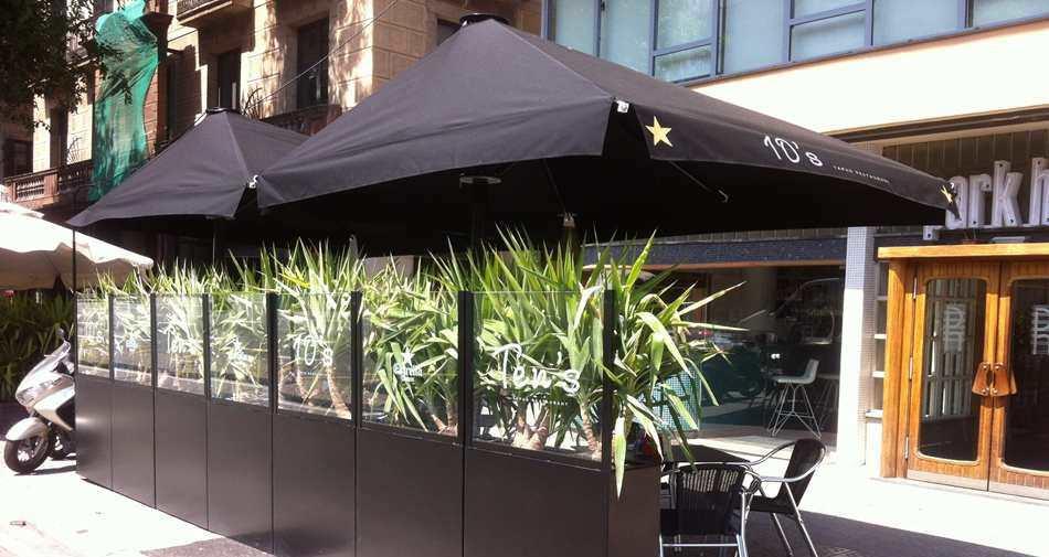 Sombrilla Lateral Para Bar Para Restaurante De Pvc Azores D - Sombrillas-para-terrazas