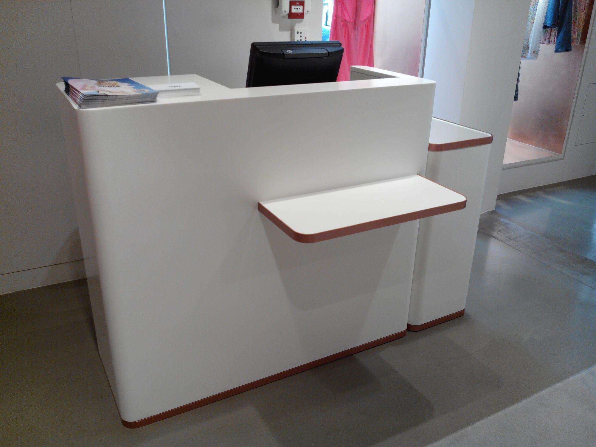 Mostrador caja para tiendas para comercio - V-korr
