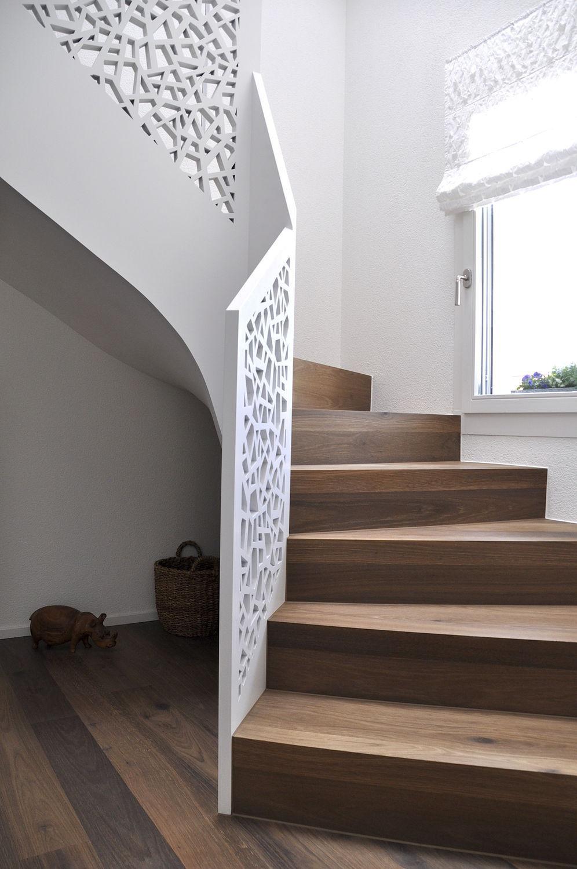 Barandilla de MDF / con paneles / de interior / para escalera ...