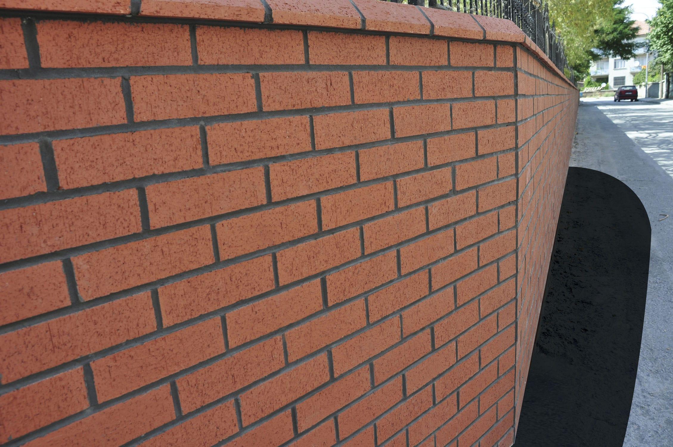 Ladrillo hueco para fachada para muro interior marrn NORMAL