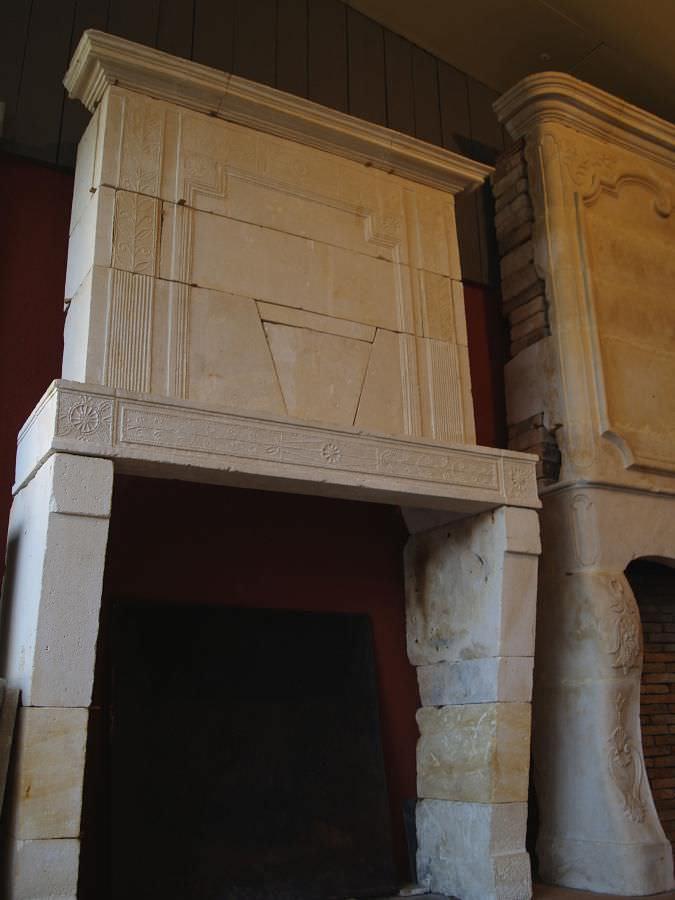 de chimenea de estilo directorio de piedra de cara