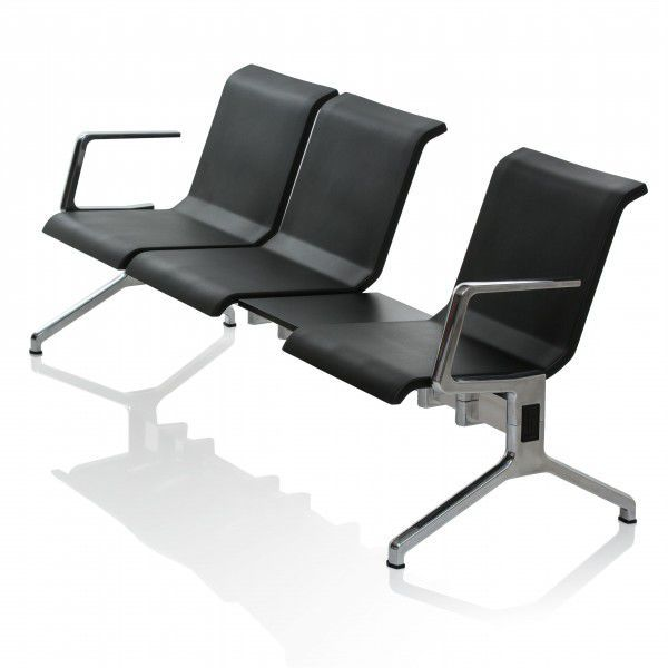 64110142968 hilera de sillas de aluminio fundido   de espuma de poliuretano   3 plazas    de interior - RIX by Aldis Circenis