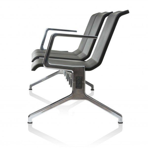 81aaf2e869a hilera de sillas de aluminio fundido   de espuma de poliuretano   3 plazas    de ...