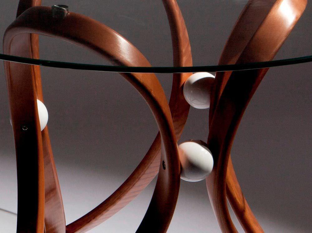 Mesa de comedor / moderna / de vidrio / redonda   apriori v ...