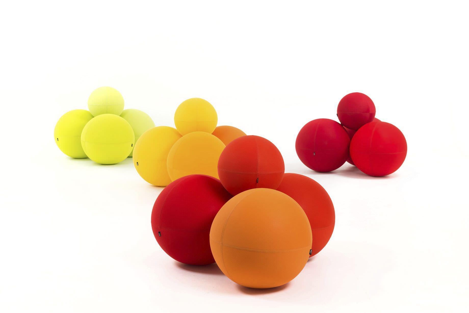 puf de diseo pop de tela modular redondo the ball modular lina furniture