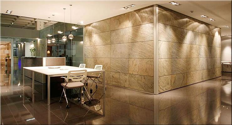 panel decorativo de piedra natural para revestimiento interior de pared office - Revestimiento De Paredes Interiores