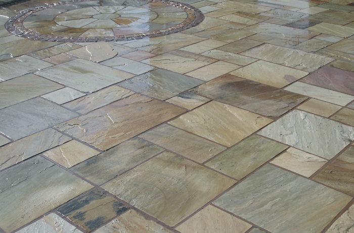 baldosa para jardn de suelo de piedra natural arenada mint fossil classical natural