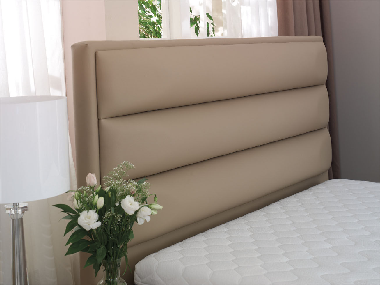 Cabecero para cama doble moderno de tejido de cuero ZEUS ISBIR