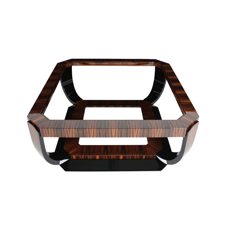 Mesa de centro Art Deco / de madera / de vidrio / de madera ...