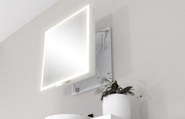 miior espejo de pared moderno rectangular con luz led com