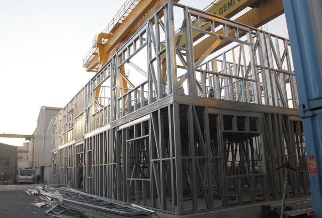 Edificio prefabricado / para oficina / de acero / estructura ...