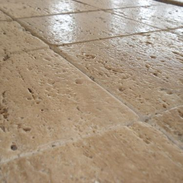 baldosa de exterior de suelo de mrmol con relieve travertino chiaro