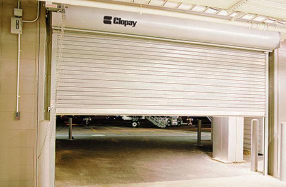 puerta de garaje enrollable / de acero galvanizado / de aluminio