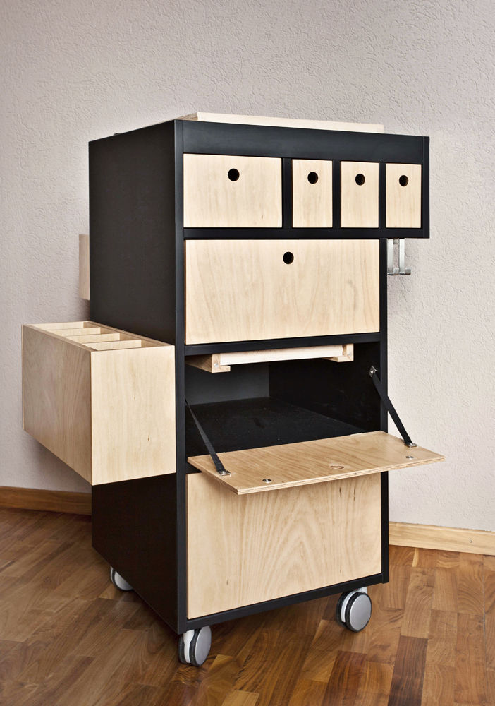 Mueble bar moderno / de metal / de madera   smart butler ...
