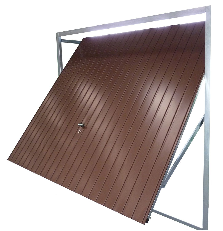 Puerta de garaje basculante / de acero galvanizado / automática - UP ...