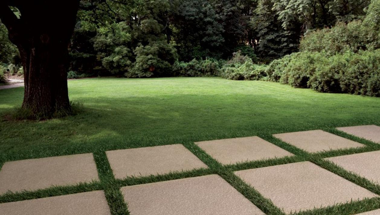 Baldosa de exterior / de jardín / de suelo / de gres porcelánico - 4 ...