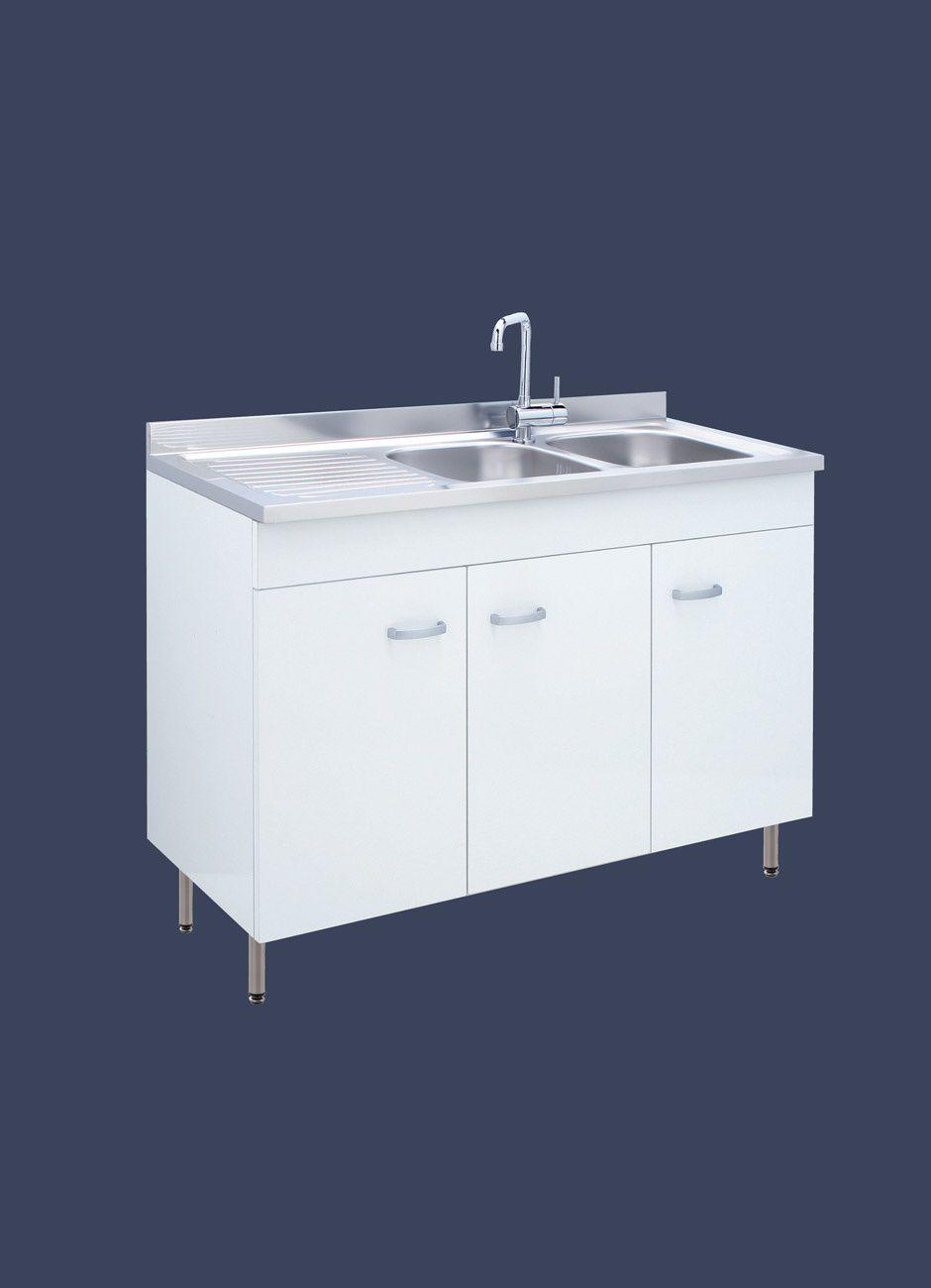 Mueble para fregadero de acero inoxidable - SOFIA - LMC srl