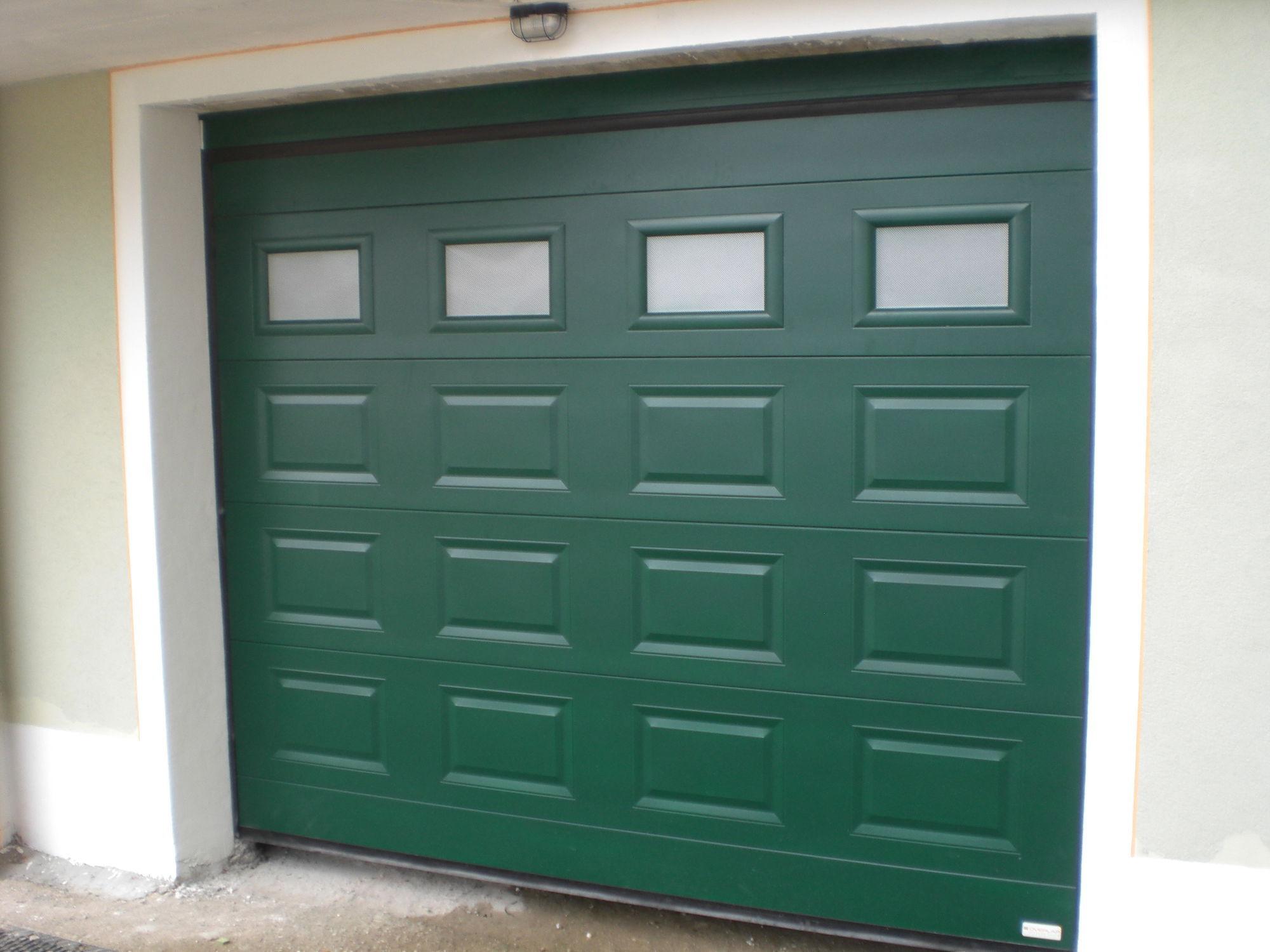 Puerta de garaje seccional / metal / de espuma de poliuretano ...
